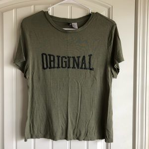 Olive green t shirt